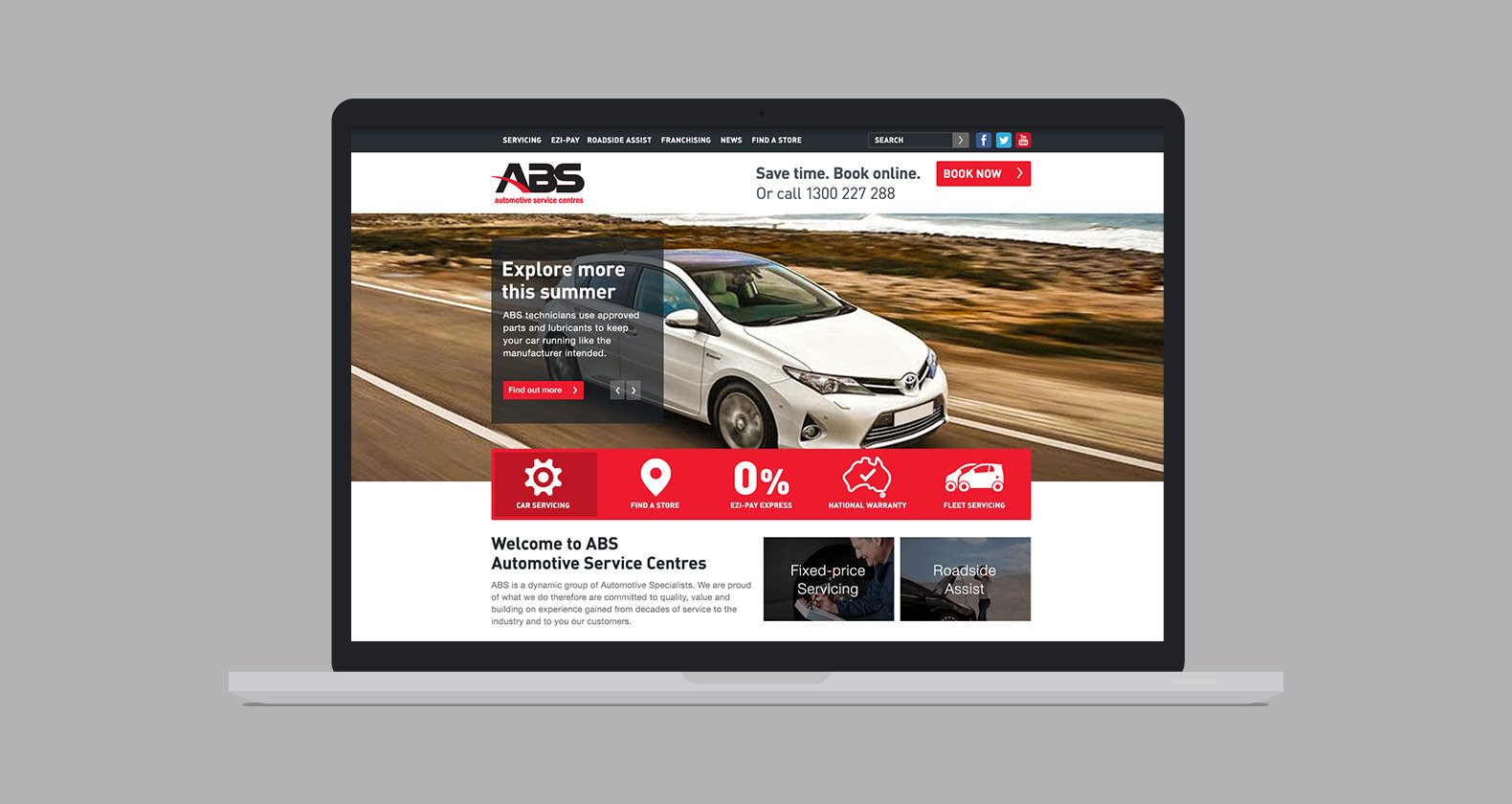 ABS Automotive - Web design, web development