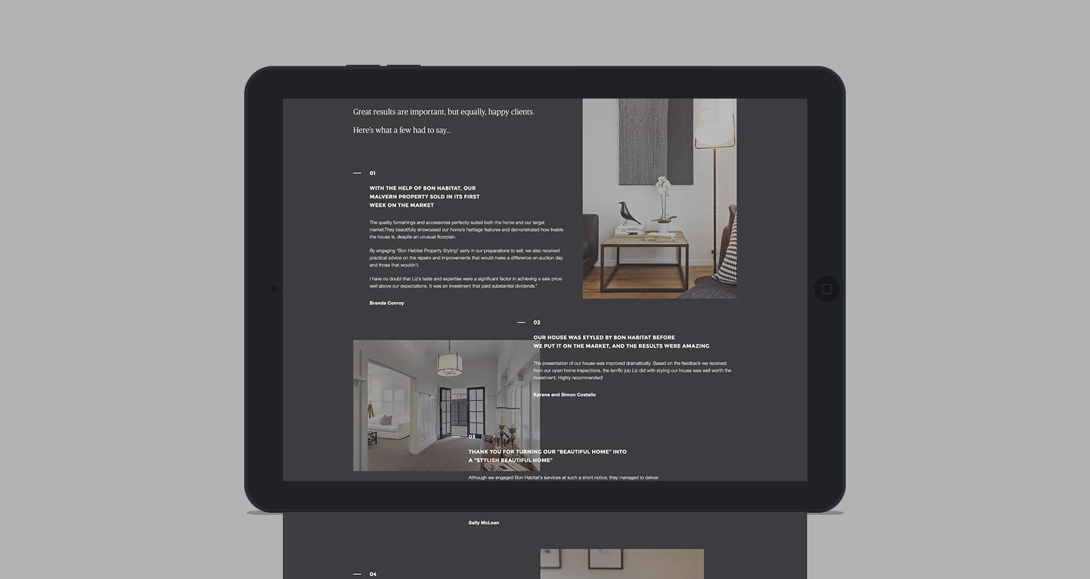 Bon Habitat - Website design & development