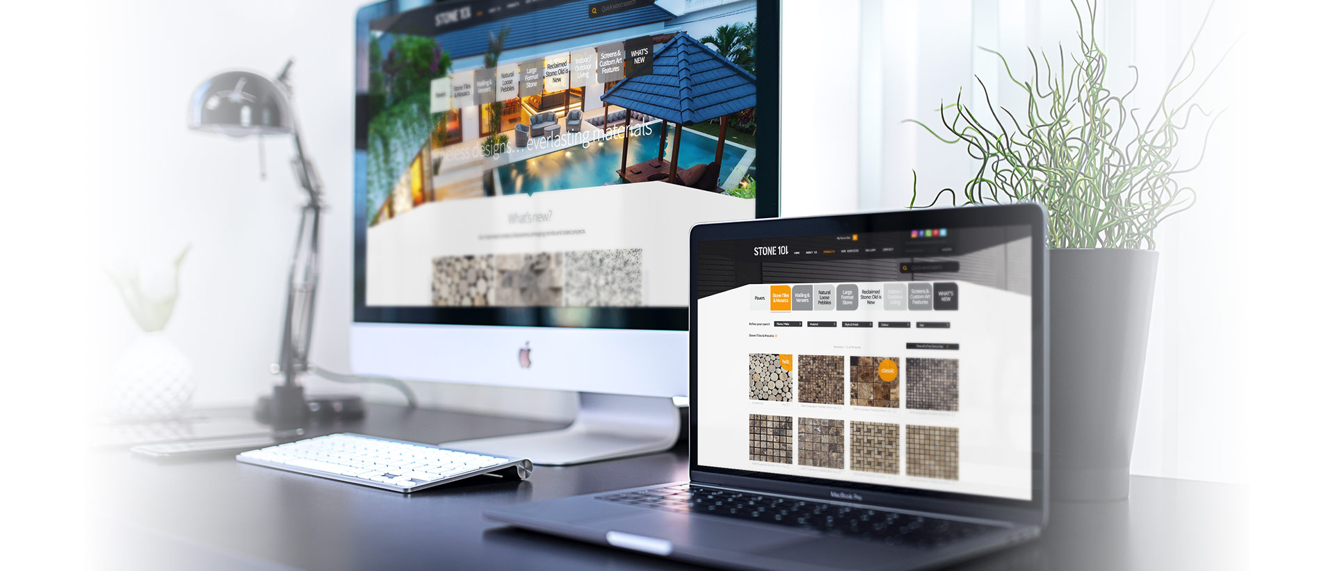 Stone 101 website design