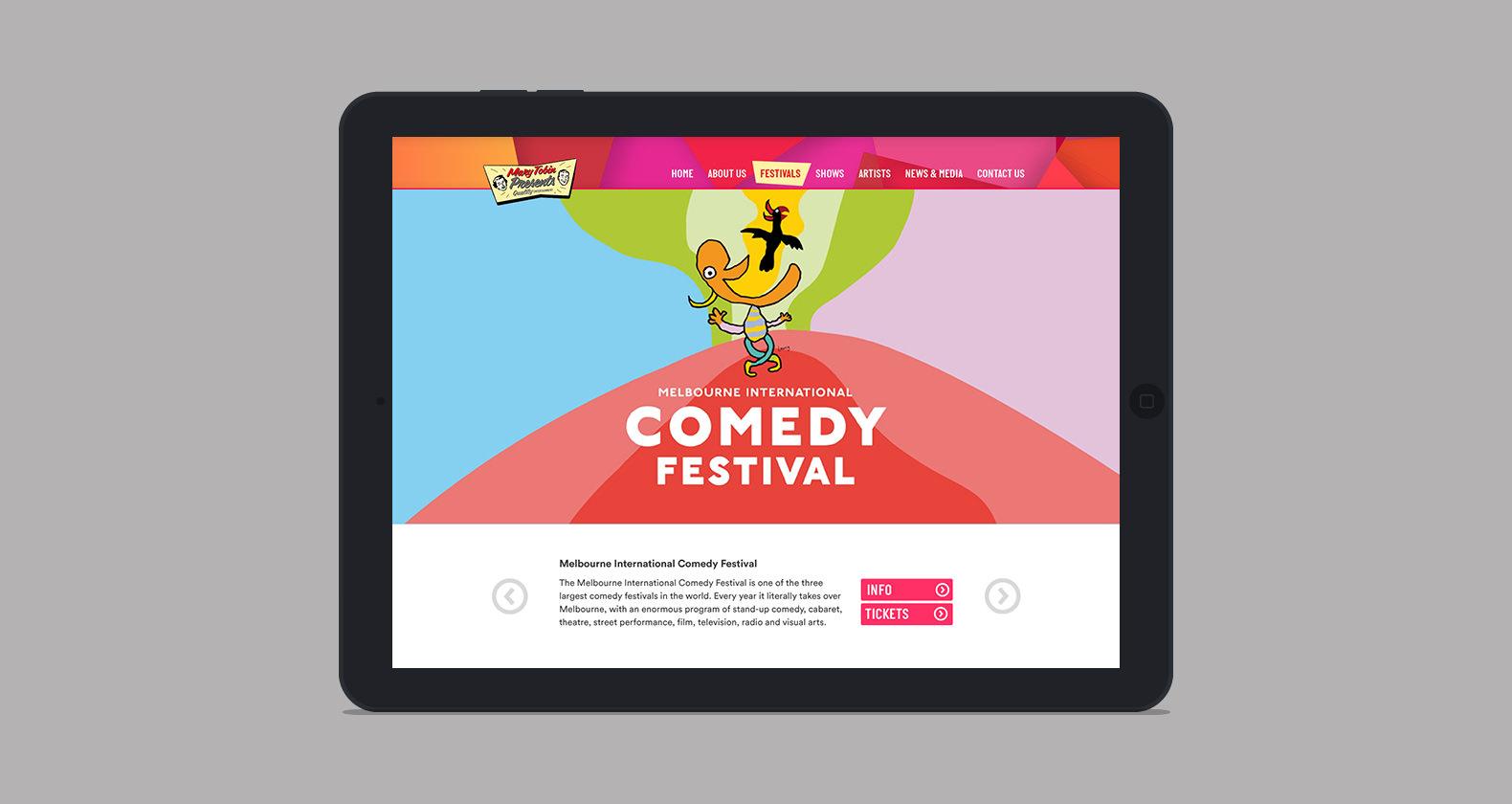 Mary Tobin Presents - web design, web development, responsive mobile design