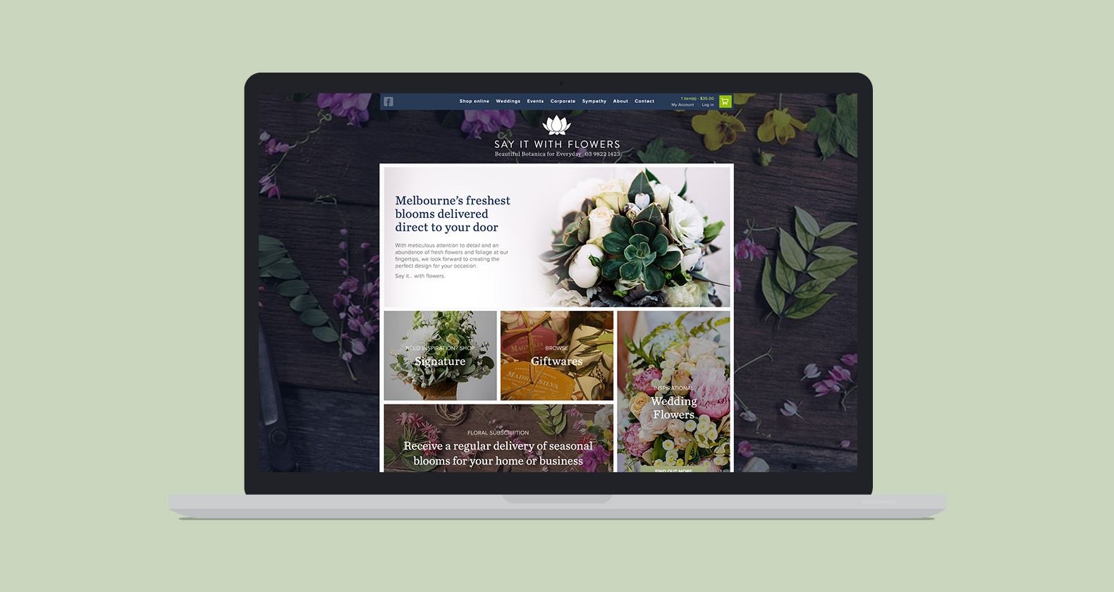Say it with Flowers - create a website with DPD creative